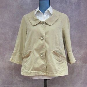 NEW DKNY Jeans Khaki Tan 3/4 Sleeve Jacket XL